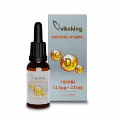 D3+K2+K1 vitamin csepp 10ml (160 adag)